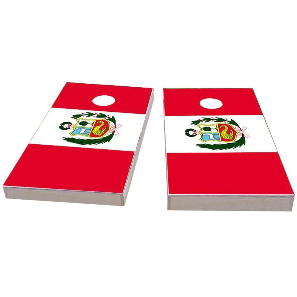 Peru Flag Cornhole Boards