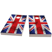 Load image into Gallery viewer, United Kingdom Worn Flag Cornhole Boards