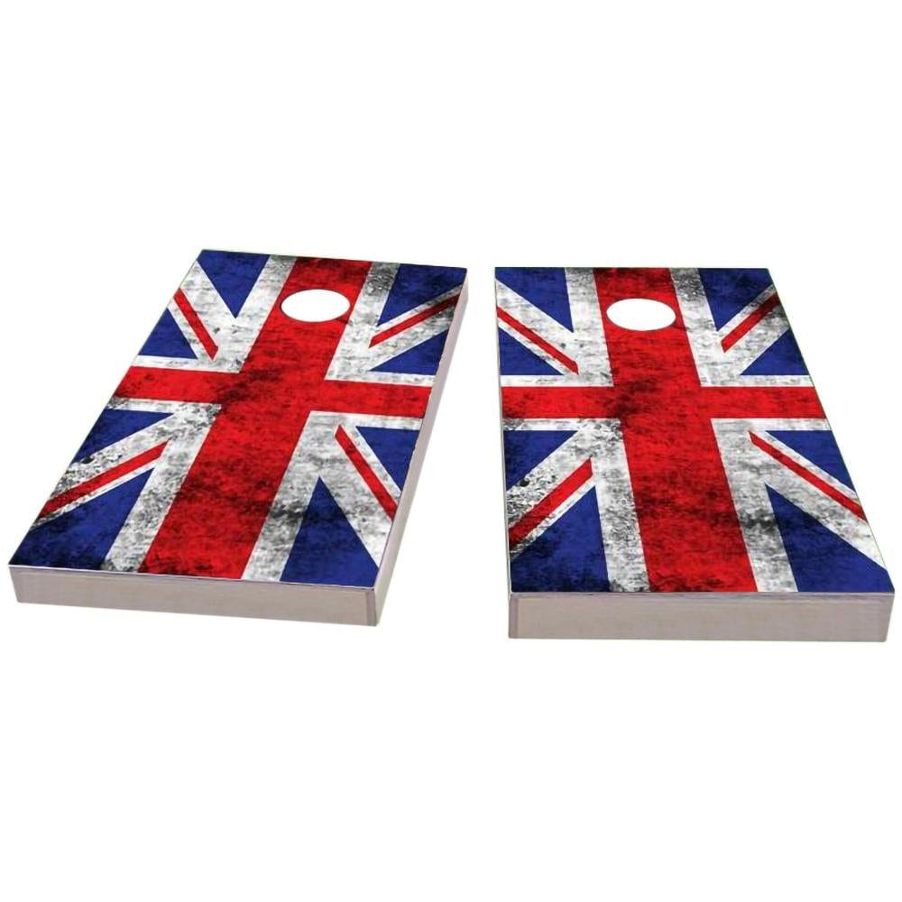 United Kingdom Worn Flag Cornhole Boards
