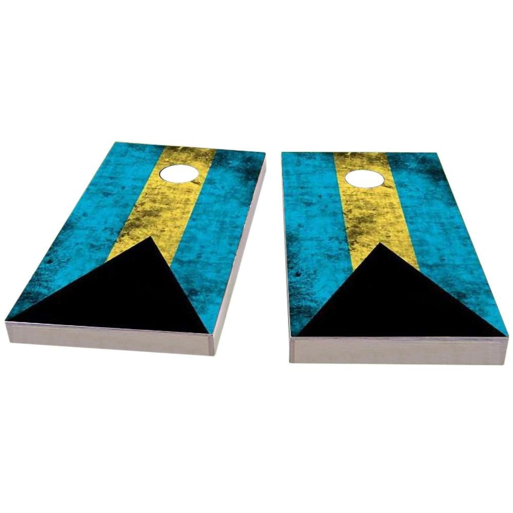 Bahamas Worn Flag Cornhole Boards
