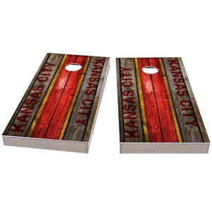 Kansas City Football Cornhole Boards