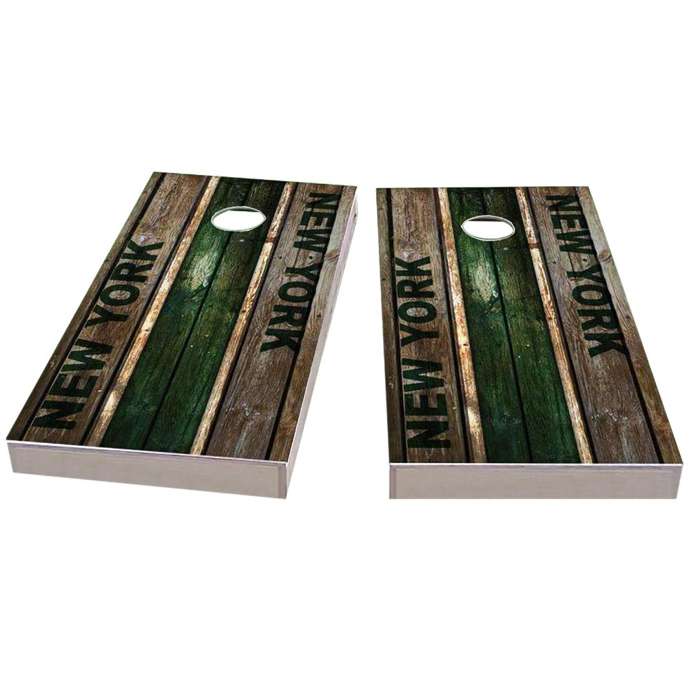 New York #2 Football Cornhole Boards