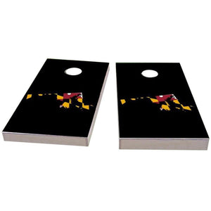 Maryland Outline (Black) Cornhole Boards