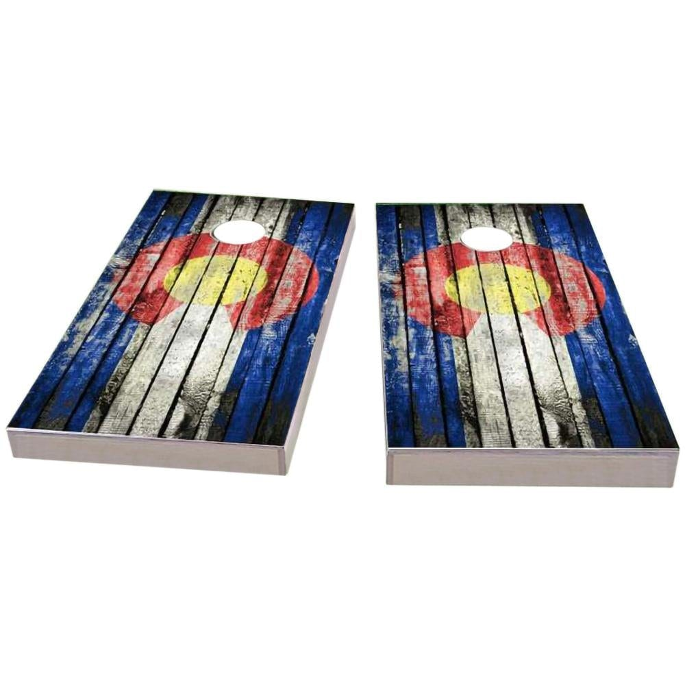 Colorado Distressed Cornhole Boards