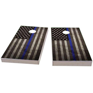 American Flag Thin Blue Line Cornhole Boards