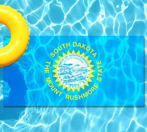 South Dakota State Flag poolmat from above