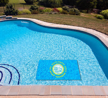 Load image into Gallery viewer, South Dakota State Flag poolmat in water