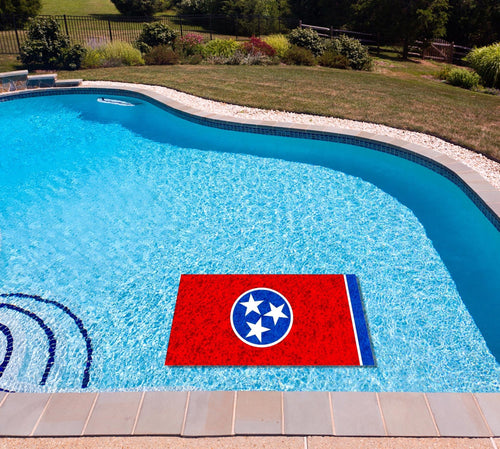 Tennessee State Flag poolmat in water