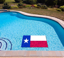 Load image into Gallery viewer, Texas State Flag poolmat in water
