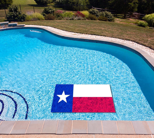 Texas State Flag poolmat in water