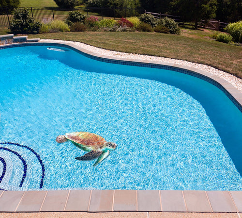 Sea Turtle Poolmat in water