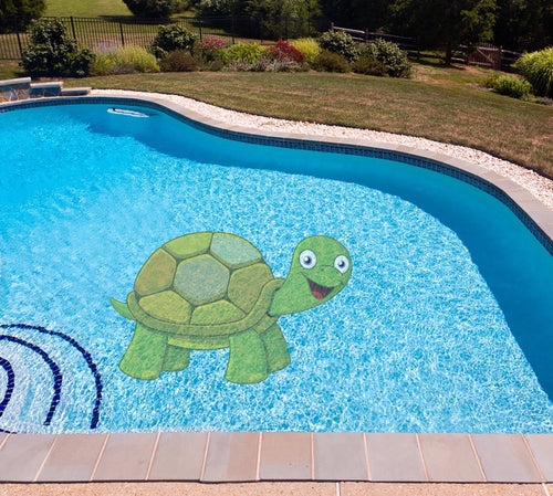 Turtle Poolmat in water