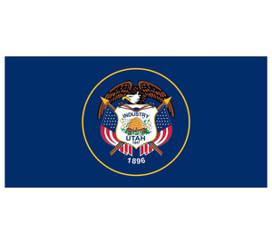Utah State Flag poolmat closeup