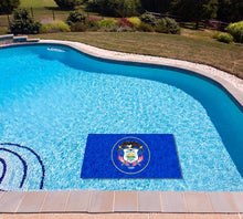 Load image into Gallery viewer, Utah State Flag poolmat in water
