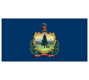 Vermont State Flag poolmat closeup