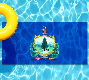 Vermont State Flag poolmat from above