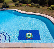 Load image into Gallery viewer, Vermont State Flag poolmat in water