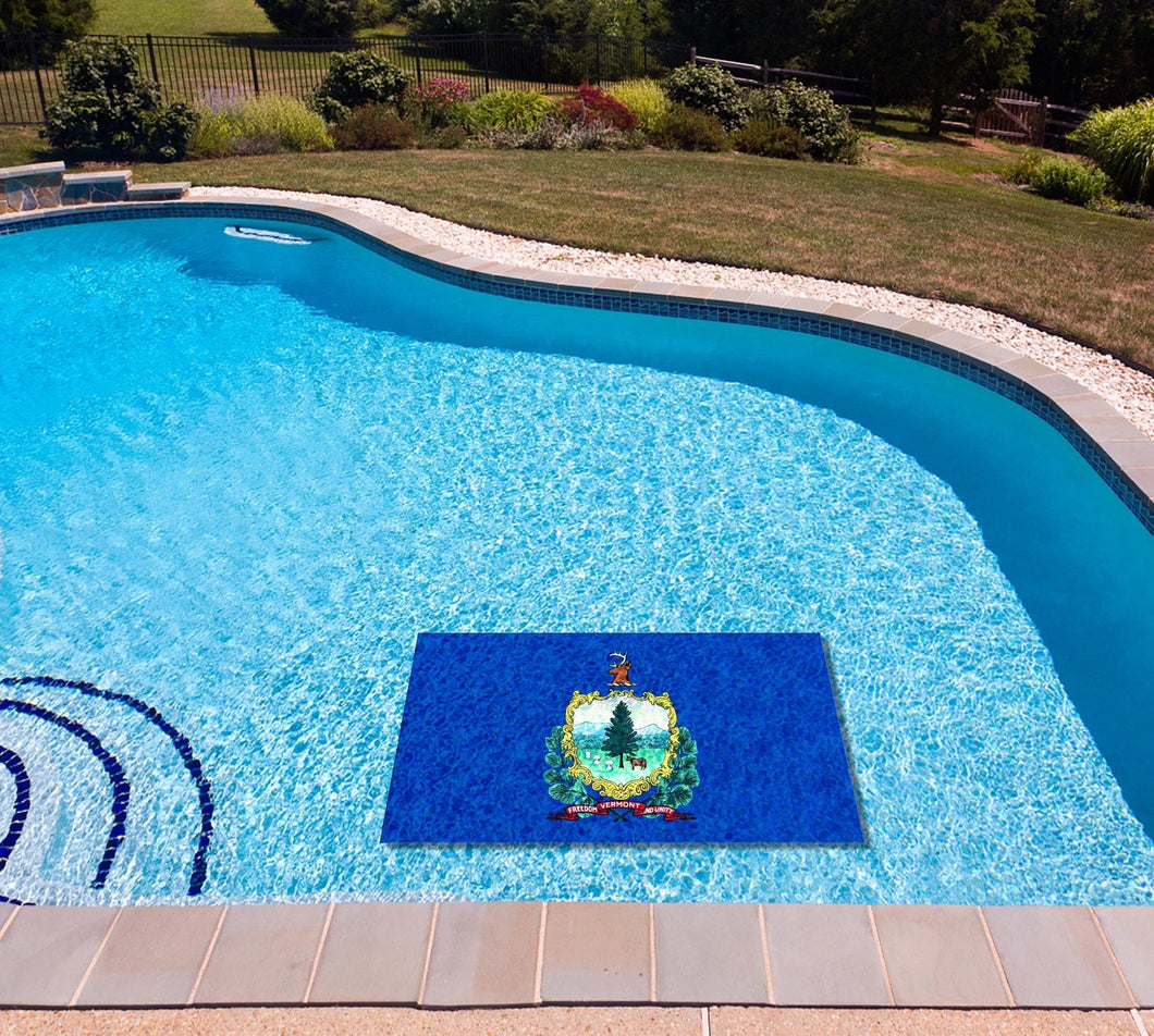Vermont State Flag poolmat in water
