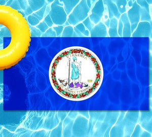 Virginia State Flag poolmat from above