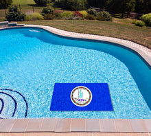 Load image into Gallery viewer, Virginia State Flag poolmat in water