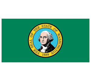 Washington State Flag poolmat closeup