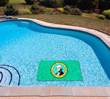 Load image into Gallery viewer, Washington State Flag poolmat in water