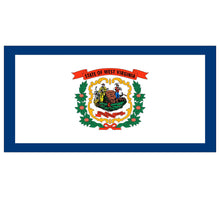 Load image into Gallery viewer, West Viginia State Flag poolmat closeup