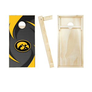 Iowa Hawkeyes Swoosh NCAA Cornhole Set