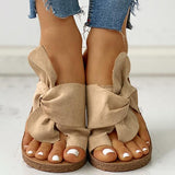 kovogue Bowknot Toe Ring Non-slip Slippers