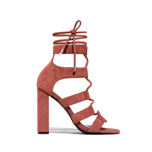 kovogue Suede Braided Heels