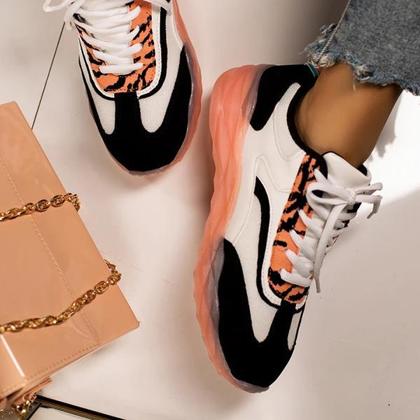 kovogue Material Lace-Up Sneakers