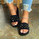kovogue Slip-On Entry Studded Sandals
