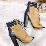 kovogue Lace-Up Aura Fashion Suede Ankle Boots