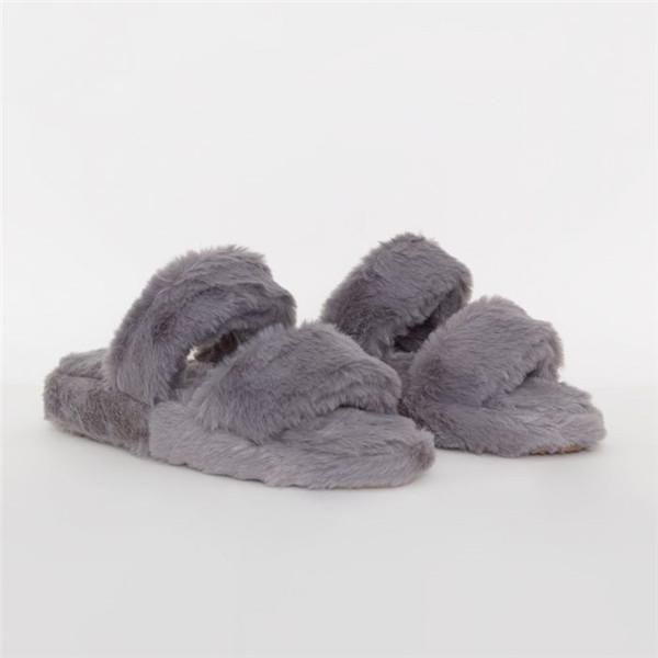 kovogue Trendy Plush Platform Slippers