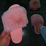 kovogue Plush Nude Casual Cute Slippers