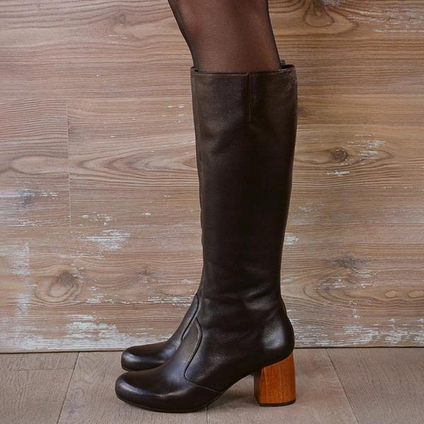 kovogue Faux Leather All-In-One Boots