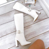 kovogue Long Adjustable Simple Boots