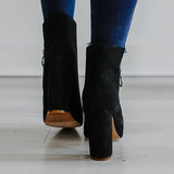 kovogue Side Open High Heel Boots