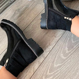 kovogue Faux Leather Patent Ankle Boots