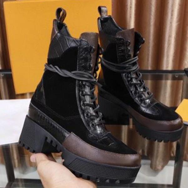 kovogue Thick-Soled Suede Heightened Fashion Boots