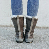 kovogue Lace Up Chestnut Snow Boots