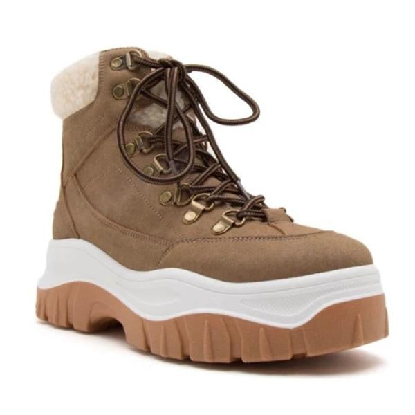 kovogue Thick-Soled Fashionable Comfortable Warm Combat Boots