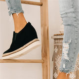 kovogue Suede Wedge Sneakers