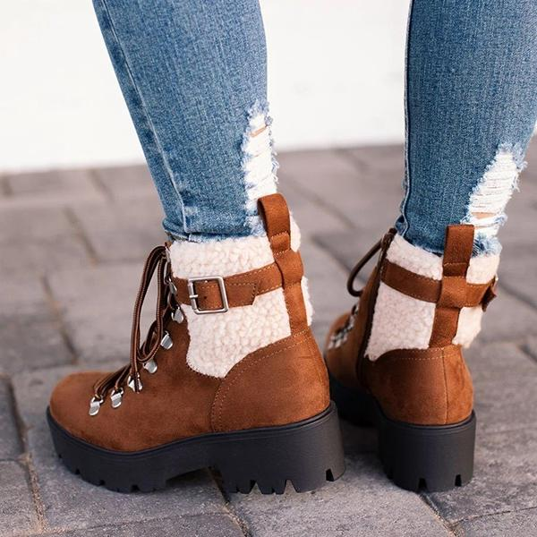 kovogue Restart Tan Lace-Up Boots