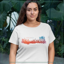 "Load image into Gallery viewer, Women's short sleeve t-shirt ""Madrid"""