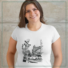 "Load image into Gallery viewer, Women's short sleeve t-shirt ""Street of New York City"""