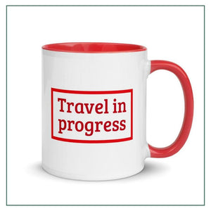 "Mug ""Travel in progress"""