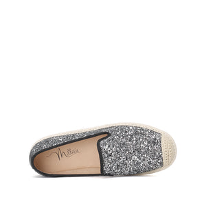 Sparkling Woven Flats