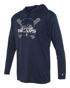 Navy Highline Bears Logo Long Sleeve Hoodie T-Shirt