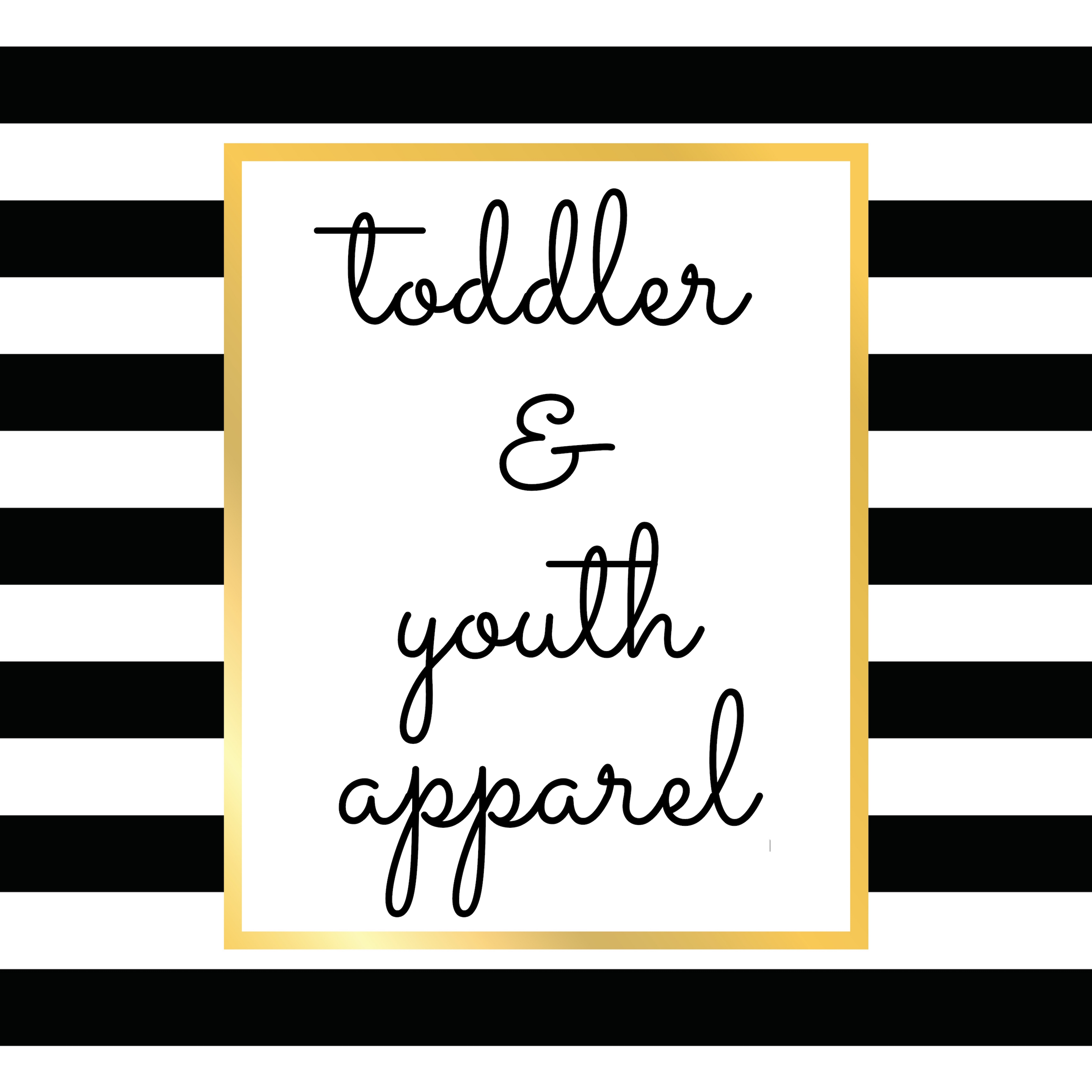 Toddler and Youth Clothing